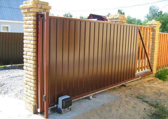 ворота откатные на забор цена